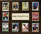 """MLB 15""""x18"""" Kirby Puckett Minnesota Twins Player Plaque"""