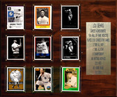 """MLB 15""""x18"""" Lou Gehrig New York Yankees Career Stat Plaque"""