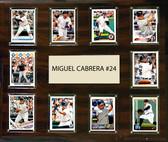 """MLB 15""""x18"""" Miguel Cabrera Detroit Tigers Player Plaque"""