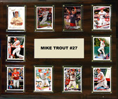 "MLB 15""x18"" Mike Trout Los Angeles Angels Player Plaque"