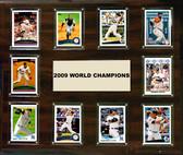 "MLB 15""x18"" New York Yankees 2009 World Series - 10-Card Plaque"