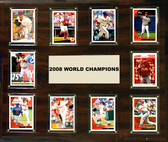 "MLB 15""x18"" Philadelphia Phillies 2008 World Series - 10-Card Plaque"