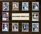 """MLB 15""""x18"""" Salvador Perez Kansas City Royals Player Plaque"""
