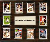 "MLB 15""x18"" San Francisco Giants 2014 World Series - 10-Card Plaque"