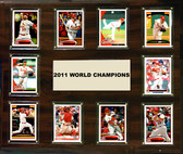 "MLB 15""x18"" St. Louis Cardinals 2011 World Series - 10-Card Plaque"