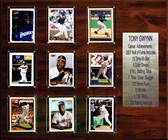 "MLB 15""x18"" Tony Gwynn San Diego Padres Career Stat Plaque"