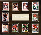 "MLB 15""x18"" Washington Nationals 2019 World Series - 10-Card Plaque"