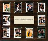 """NBA 15""""x18"""" Giannis Antetokounmpo Milwaukee Bucks Player Plaque"""