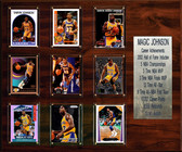 "NBA 15""x18"" Magic Johnson Los Angeles Lakers Career Stat Plaque"