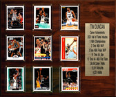 "NBA 15""x18"" Tim Duncan San Antonio Spurs Career Stat Plaque"