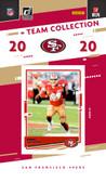 NFL San Francisco 49ers Licensed2020 Donruss Team Set