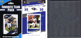 NFL Baltimore Ravens Licensed 2020 Score Team Set and Favorite Player Trading Card Pack Plus Storage Album