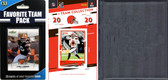 NFL Cleveland Browns Licensed 2020 Score Team Set and Favorite Player Trading Card Pack Plus Storage Album