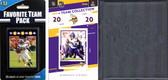NFL Minnesota Vikings Licensed 2020 Score Team Set and Favorite Player Trading Card Pack Plus Storage Album