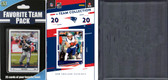 NFL New England Patriots Licensed 2020 Score Team Set and Favorite Player Trading Card Pack Plus Storage Album