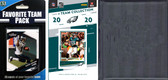 NFL Philadelphia Eagles Licensed 2020 Score Team Set and Favorite Player Trading Card Pack Plus Storage Album