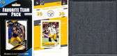 NFL Pittsburgh Steelers Licensed 2020 Score Team Set and Favorite Player Trading Card Pack Plus Storage Album
