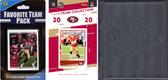 NFL San Francisco 49ers Licensed 2020 Score Team Set and Favorite Player Trading Card Pack Plus Storage Album