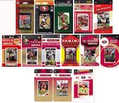 NFL San Francisco 410ers 14 Different Licensed Trading Card Team Sets
