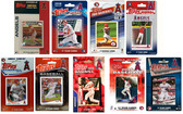 MLB Los Angeles Angels 9 Different Licensed Trading Card Team Sets