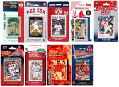MLB Boston Red Sox 9 Different Licensed Trading Card Team Sets