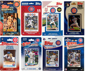 MLB Chicago Cubs 8 Different Licensed Trading Card Team Sets