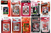 MLB Cincinnati Reds 10 Different Licensed Trading Card Team Sets