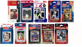 MLB Cleveland Indians 10 Different Licensed Trading Card Team Sets