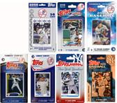MLB New York Yankees 7 Different Licensed Trading Card Team Sets