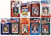 MLB Philadelphia Phillies 9 Different Licensed Trading Card Team Sets