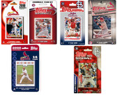 MLB St. Louis Cardinals 6 Different Licensed Trading Card Team Sets