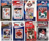 MLB Washington Nationals 8 Different Licensed Trading Card Team Sets