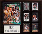 "NBA 16""x20"" Boston Celtics 17-Time NBA Champions Plaque"
