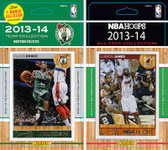 NBA Boston Celtics Licensed 2013-14 Hoops Team Set Plus 2013-24 Hoops All-Star Set