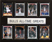 "NBA 12""x15"" Chicago Bulls All-Time Greats Plaque"