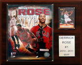 "NBA 12""x15"" Derrick Rose Chicago Bulls 2010-11 NBA MVP Plaque"