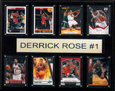 "NBA 12""x15"" Derrick Rose Chicago Bulls 8-Card Plaque"