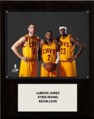 "NBA 12""x15"" LeBron James-Irving-Love Cleveland Cavaliers Player Plaque"