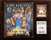 "NBA 12""x15"" Dirk Nowitzki Dallas Mavericks 2011 NBA Finals MVP Plaque"