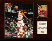 "NBA 12""x15"" Hakeem Olajuwon Houston Rockets Player Plaque"