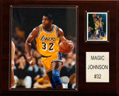 "NBA 12""x15"" Magic Johnson Los Angeles Lakers Player Plaque"