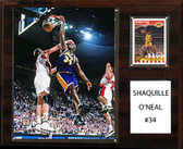 "NBA 12""x15"" Shaquille O'Neal Los Angeles Lakers Player Plaque"