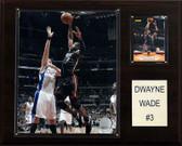"NBA 12""x15"" Dwyane Wade Miami Heat Player Plaque"