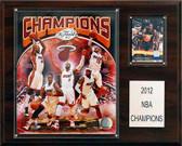 "NBA 12""x15"" Miami Heat 2012-2013 NBA Champions Plaque"