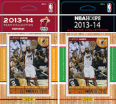 NBA Miami Heat Licensed 2013-14 Hoops Team Set Plus 2013-24 Hoops All-Star Set