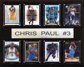 "NBA 12""x15"" Chris Paul New Orleans Hornets 8 Card Plaque"