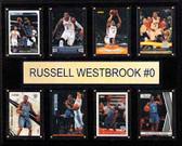 "NBA 12""x15"" Russell Westbrook Oklahoma City Thunder 8-Card Plaque"