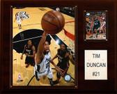 "NBA 12""x15"" Tim Duncan San Antonio Spurs Player Plaque"
