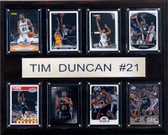 "NBA 12""x15"" Tim Duncan San Antonio Spurs 8 Card Plaque"