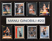 "NBA 12""x15"" Manu Ginobili San Antonio Spurs 8-Card Plaque"